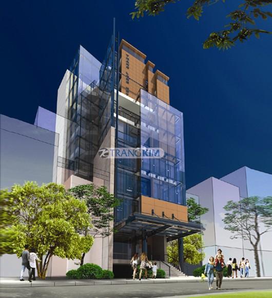 Hình ảnh phối cảnh thiết kế kiến trúc khách sạn mini - Hà Nội 1