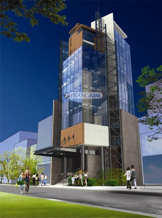 Hình ảnh phối cảnh thiết kế kiến trúc khách sạn mini - Hà Nội 2