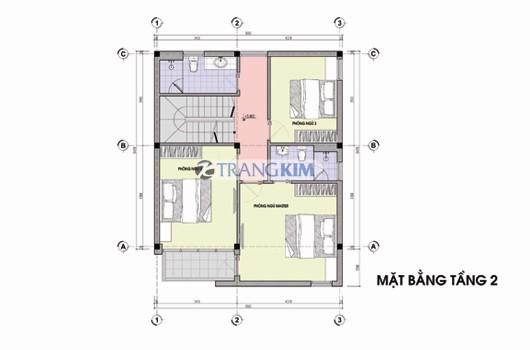 tang-2-Copy Kiến trúc biệt thự 3 tầng – Anh Hiếu