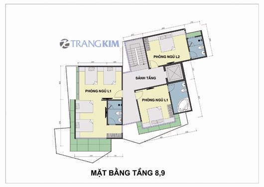 Bản vẽ chi tiết mặt bằng thiết kế khách sạn mini - Hà Nội 5