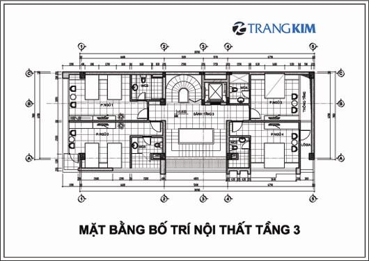 Chi tiết mặt bằng thiết kế kiến trúckhách sạn mini tại Cao Bằng 4