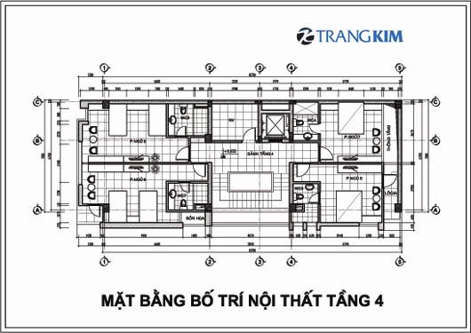 Chi tiết mặt bằng thiết kế kiến trúckhách sạn mini tại Cao Bằng 5