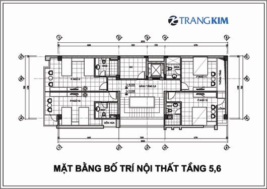 Chi tiết mặt bằng thiết kế kiến trúckhách sạn mini tại Cao Bằng 6