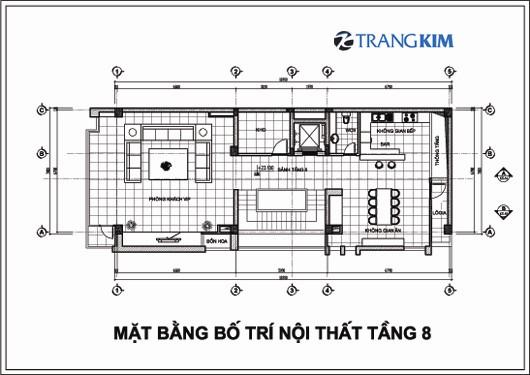 Chi tiết mặt bằng thiết kế kiến trúckhách sạn mini tại Cao Bằng 8