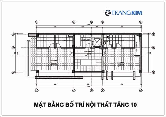 Chi tiết mặt bằng thiết kế kiến trúckhách sạn mini tại Cao Bằng 10