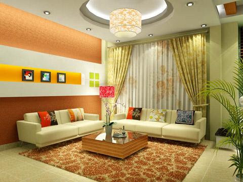 tao-diem-nhan-tren-tuong-phong-khach1 Trang trí phòng khách bằng cách tạo điểm nhấn trên tường