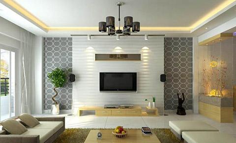 tao-diem-nhan-tren-tuong-phong-khach3 Trang trí phòng khách bằng cách tạo điểm nhấn trên tường