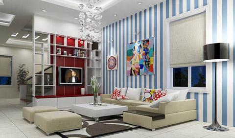tao-diem-nhan-tren-tuong-phong-khach4 Trang trí phòng khách bằng cách tạo điểm nhấn trên tường