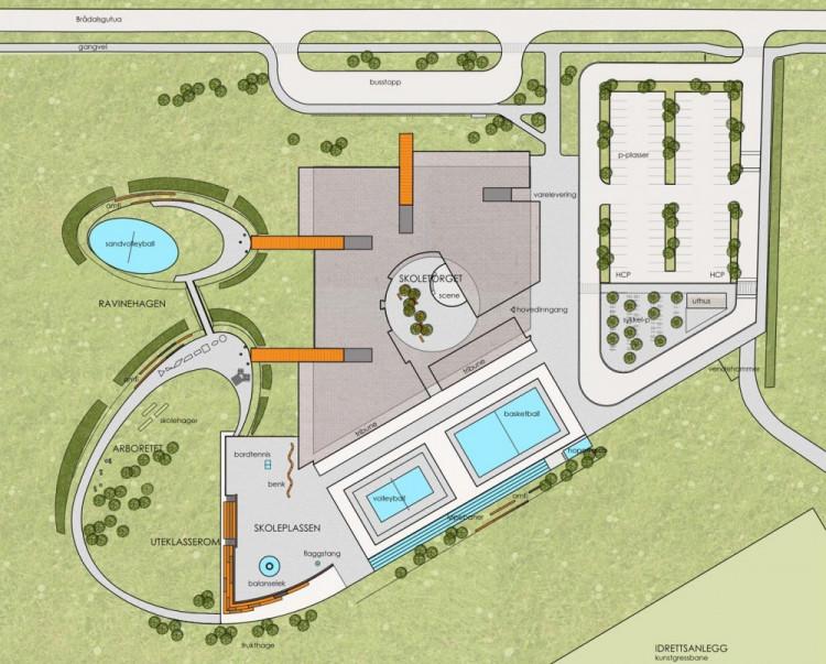 1304003454-gjerdrum-masterplan-1000x804 Kiến trúc cảnh quan trường trung học Gjerdrum - Na Uy