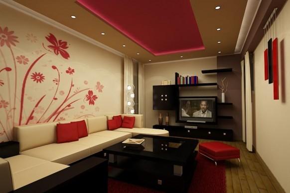 phong-khach-mau-sac-nghe-thuat-6 Phòng khách - không gian nghệ thuật với những sắc màu