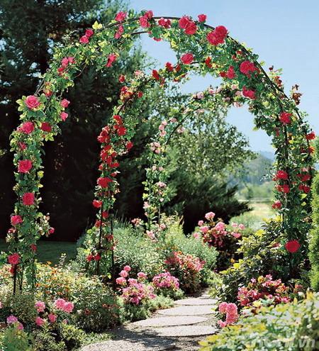 05 DOOL110805ThangMB02 Những chiếc cổng lãng mạn cho nhà vườn
