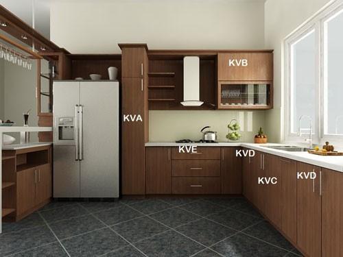 1. Nắm rõ các khu vực chức năng của tủ bếp 1