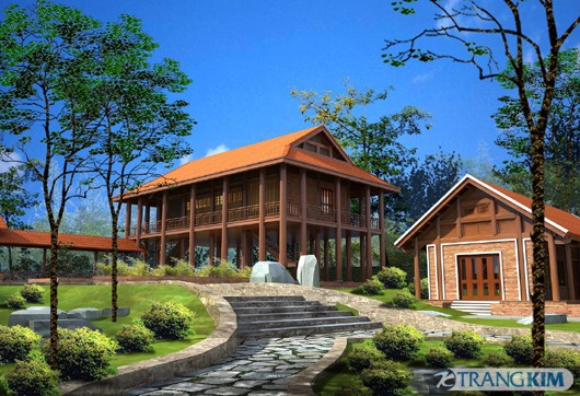 Cấu trúc của nhà gỗ phù hợp phong thủy