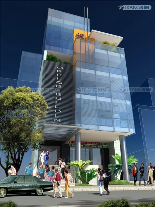 phoi-canh Kiến trúc văn phòng 5 tầng hiện đại