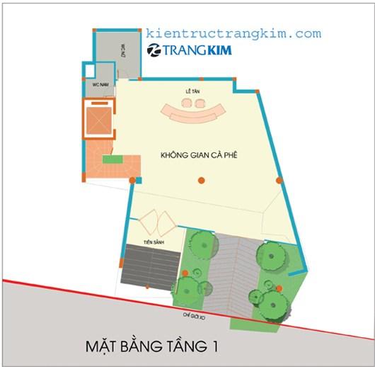 tang-1 Kiến trúc văn phòng 5 tầng hiện đại