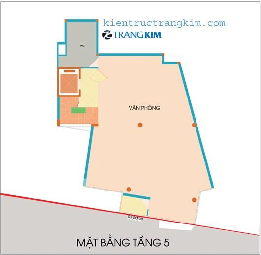 tang-5 Kiến trúc văn phòng 5 tầng hiện đại