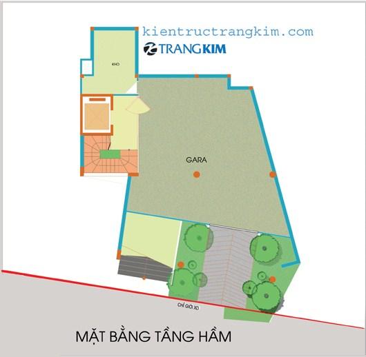 tang-ham Kiến trúc văn phòng 5 tầng hiện đại