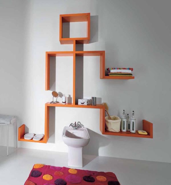 su-dung-ke-trang-tri-10 Sử dụng kệ treo tường ấn tượng trong nhà