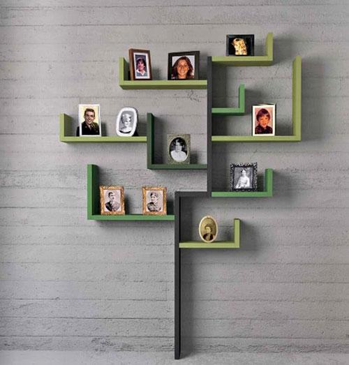 su-dung-ke-trang-tri-3 Sử dụng kệ treo tường ấn tượng trong nhà
