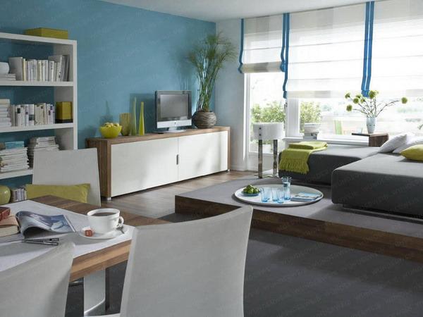 phan-chia-phong-khach-phong-an-24m2-1 Bài trí hợp lý cho phòng khách và phòng ăn 24m2