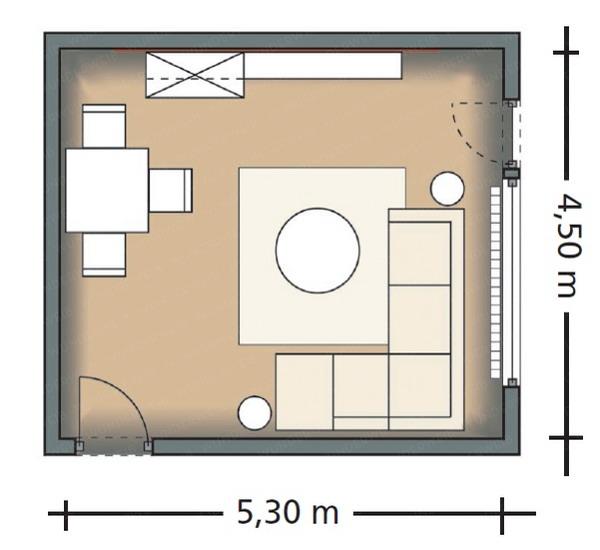 phan-chia-phong-khach-phong-an-24m2-5 Bài trí hợp lý cho phòng khách và phòng ăn 24m2