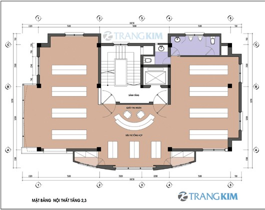 Bản vẽ mặt bằng thiết kế kiến trúc khách sạn hiện đại 2