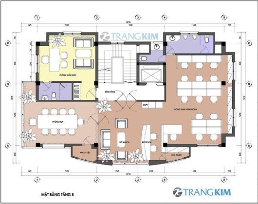 Bản vẽ mặt bằng thiết kế kiến trúc khách sạn hiện đại 4