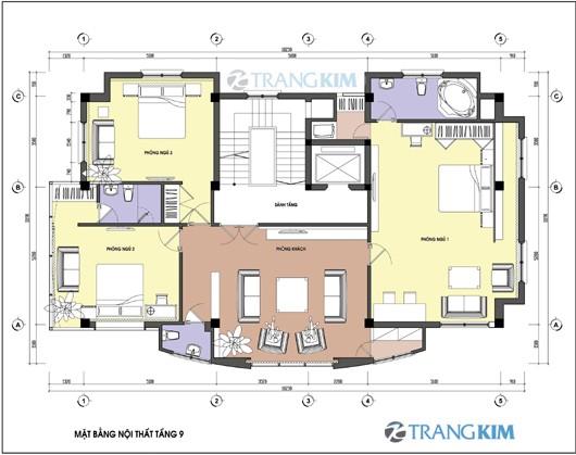 Bản vẽ mặt bằng thiết kế kiến trúc khách sạn hiện đại 5