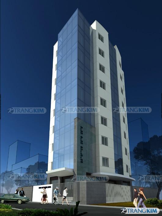 Hình ảnh phối cảnh thiết kế kiến trúc khách sạn hiện đại - Ninh Bình 1
