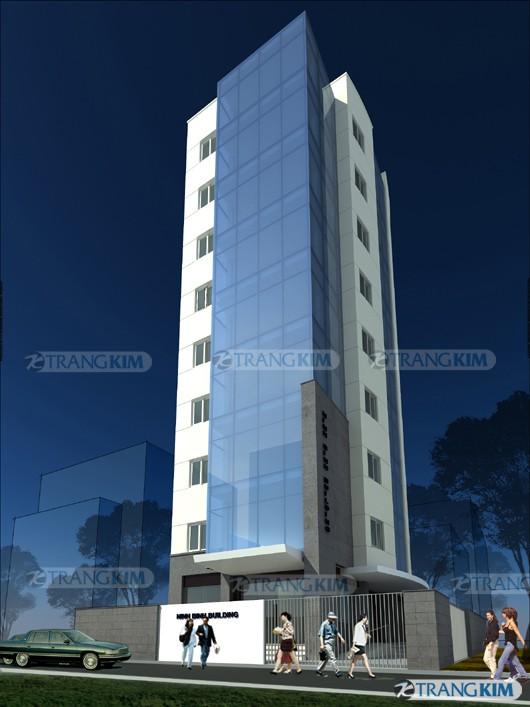 Hình ảnh phối cảnh thiết kế kiến trúc khách sạn hiện đại - Ninh Bình 2