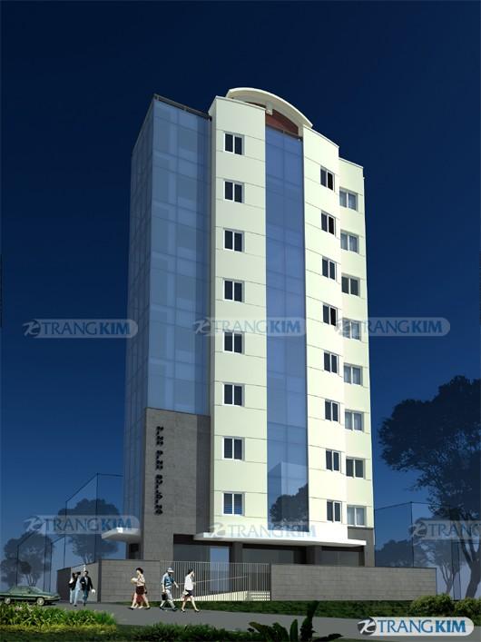Hình ảnh phối cảnh thiết kế kiến trúc khách sạn hiện đại - Ninh Bình 3