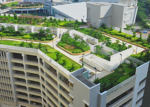 Biến nóc nhà cao tầng thành công viên mini - Archi
