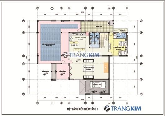 MAT-BANG-KIEN-TRUC-TANG-1-Original-Resolution Tư vấn thiết kế biệt thự 280m2