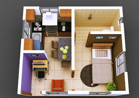Bố trí hợp lý các phòng để tạo sự thông thoáng cho chung cư mini.