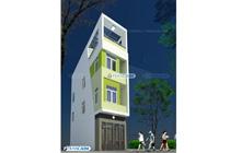 Thiết kế Kiến trúc nhà ống 4 tầng – Em Hạnh
