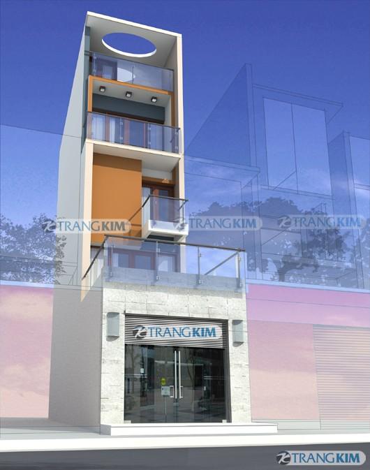 kien-truc-nha-ong-4-tang-phoi-canh-11 Mặt đứng ngôi nhà và cảnh quan đô thị