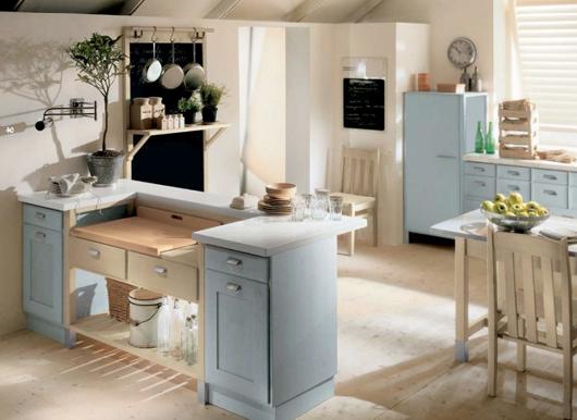 2 Nội thất gỗ đẹp như phòng bếp phong cách Italy