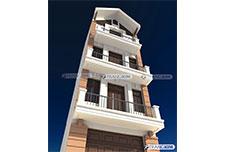 Thiết kế kiến trúc nhà ống 5 tầng – Anh Phú