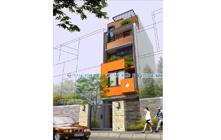 Thiết kế Kiến trúc nhà ống 5 tầng mặt tiền 4.4m – Em Lệ