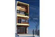 Thiết kế kiến trúc nhà ống 4 tầng – Anh Trường