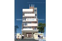 Thiết kế kiến trúc khách sạn 6 tầng – Anh Nhuệ