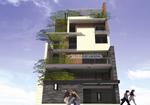 Kiến trúc nhà ống 6 tầng – Chú Hùng