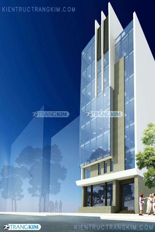 Thiết kế cải tạo kiến trúc văn phòng 8 tầng