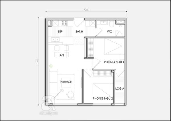 bản vẽ bố trí nội thất chung cư