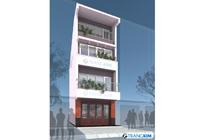 Thiết kế kiến trúc nhà ống 4 tầng – Chị Lanh