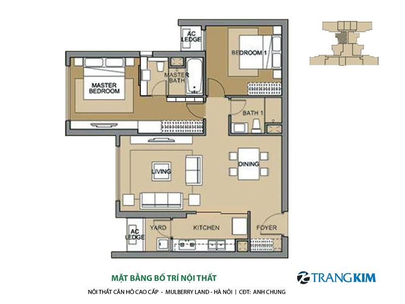 Thiết kế nội thất chung cư MULBERRY LAND – Hà Nội 13