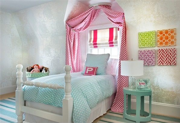 phong-ngu-be-gai-10 Những mẫu phòng ngủ đẹp cho bé gái