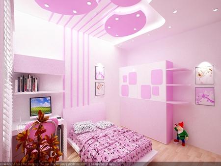 phong-ngu-be-gai-13 Những mẫu phòng ngủ đẹp cho bé gái