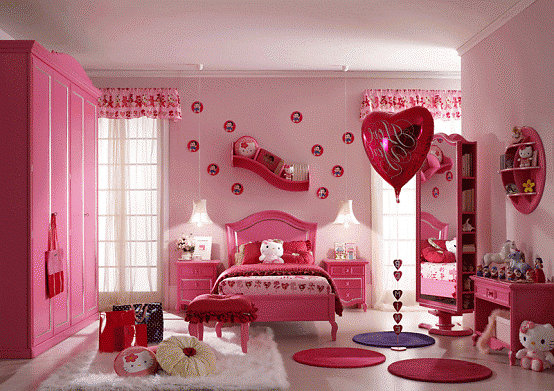 phong-ngu-be-gai-2 Những mẫu phòng ngủ đẹp cho bé gái