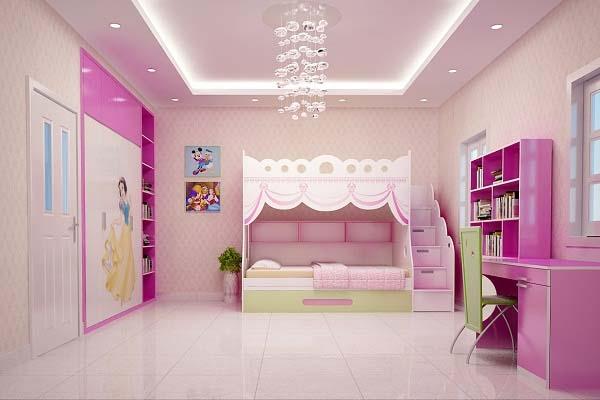 phong-ngu-be-gai-3 Những mẫu phòng ngủ đẹp cho bé gái